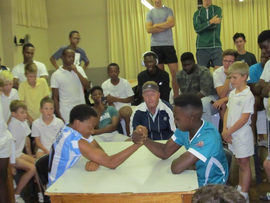 Akh Quiz Arm Wrestling Competition Union Schools